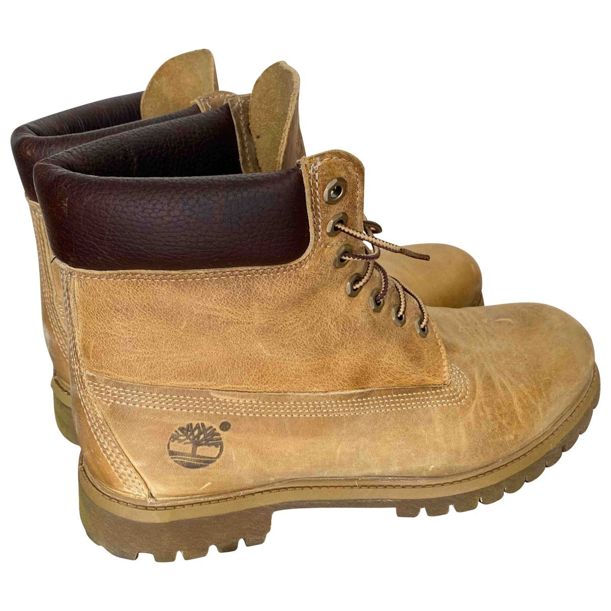 Timberland \N Camel Leather Boots for Men 45 EU