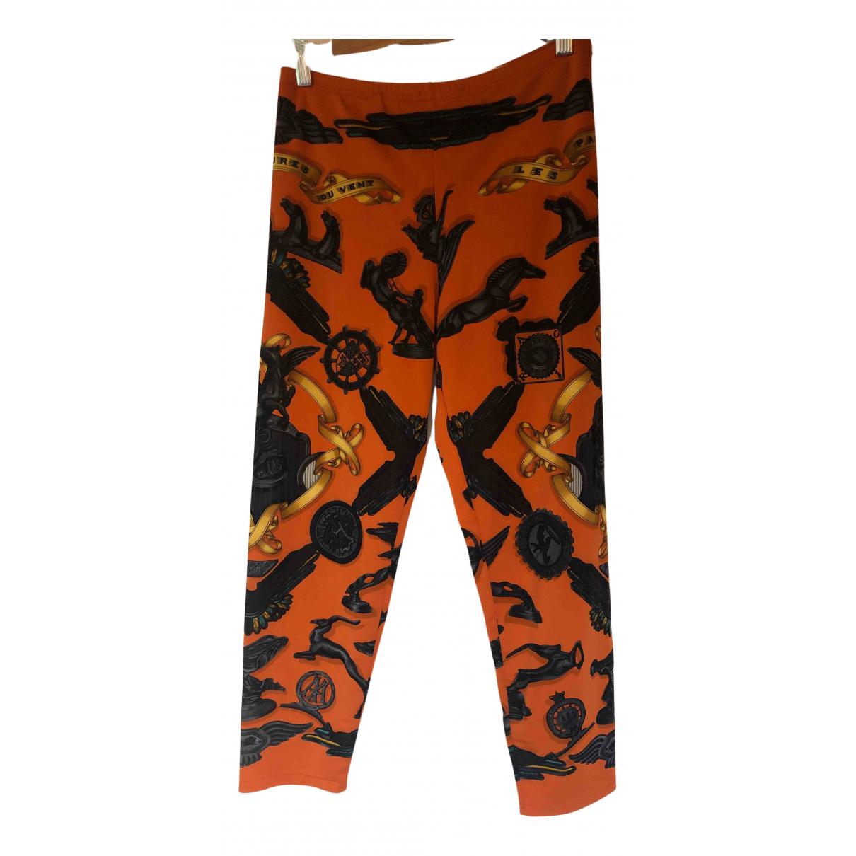 Hermès N Orange Trousers for Women 40 FR