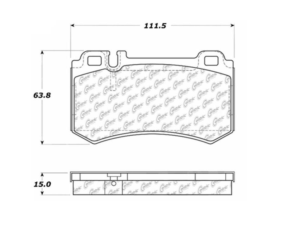 StopTech 104.0984 PosiQuiet Semi Met Pads Mercedes-Benz Rear