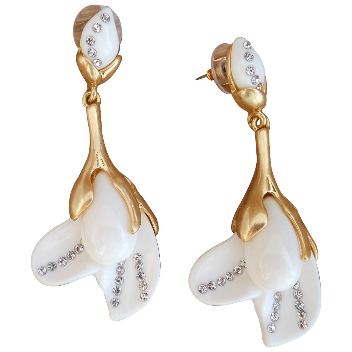 Oscar De La Renta - Boucles doreilles   pour femme en autre - blanc