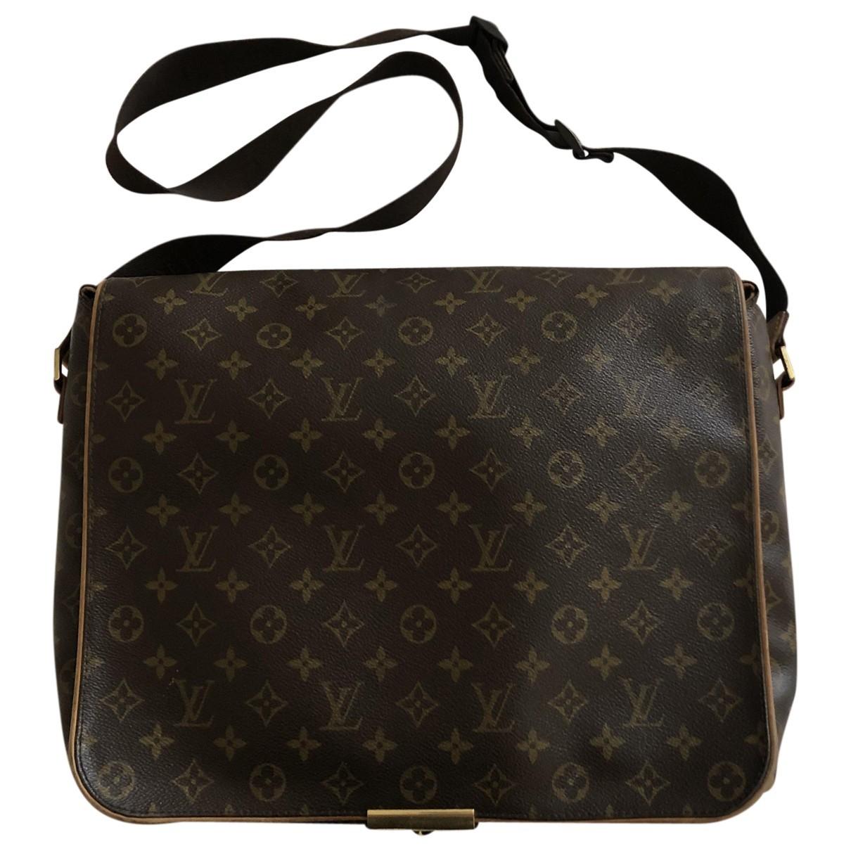Louis Vuitton Naviglio Handtasche in  Braun Leinen