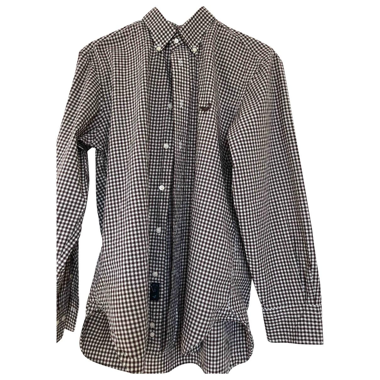 Faconnable \N Brown Cotton Shirts for Men 16 UK - US (tour de cou / collar)