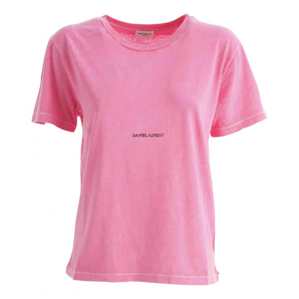 Saint Laurent \N Pink Cotton  top for Women M International