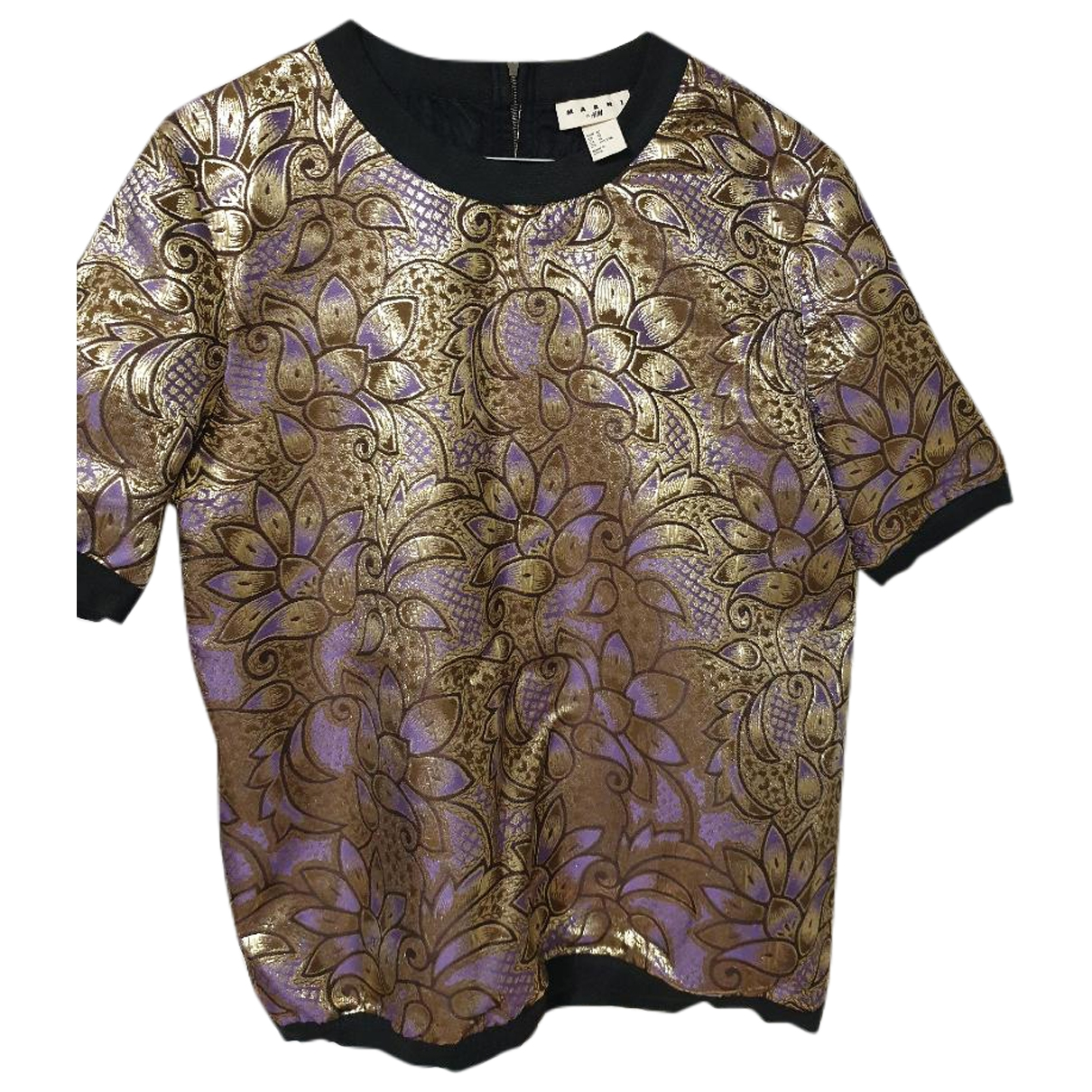 Marni For H&m \N Top in  Gold Polyester