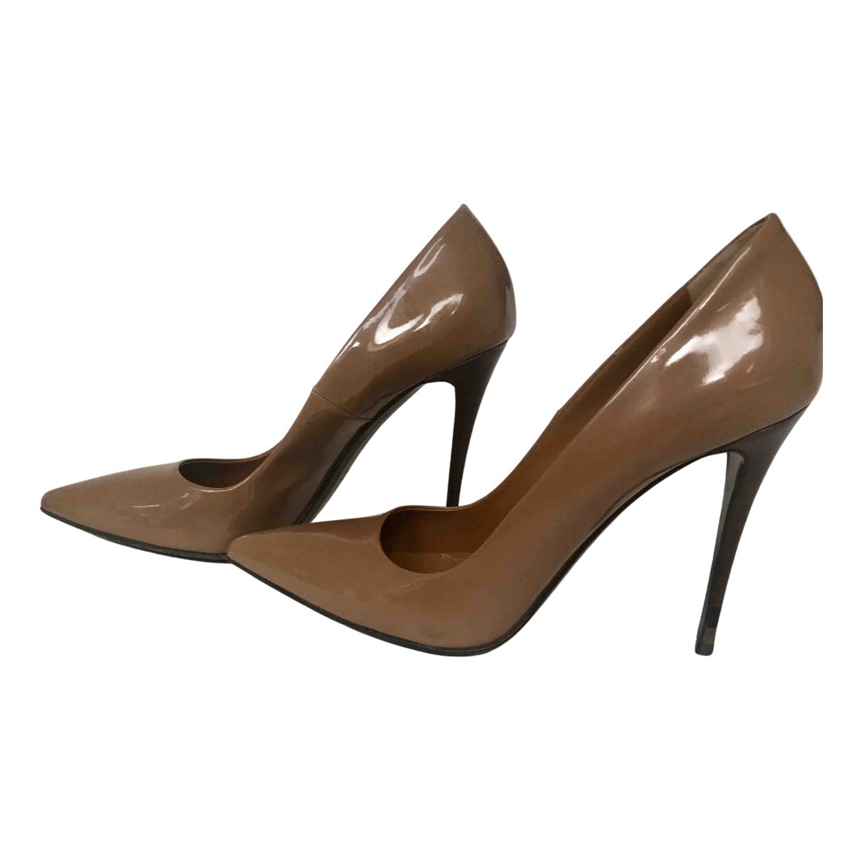 Fendi N Camel Patent leather Heels for Women 37 EU