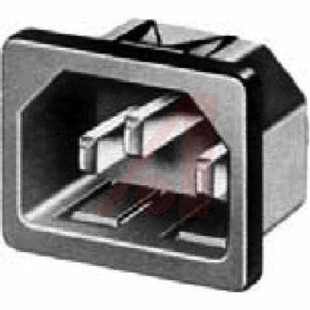 Schurter C14 Snap-In IEC Connector Male, 10 (IEC) A, 15 (UL & CSA) A, 250 V ac (50)