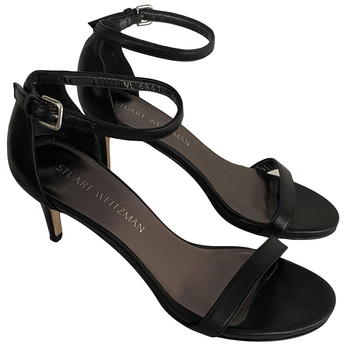 Stuart Weitzman - Sandales   pour femme en cuir - noir