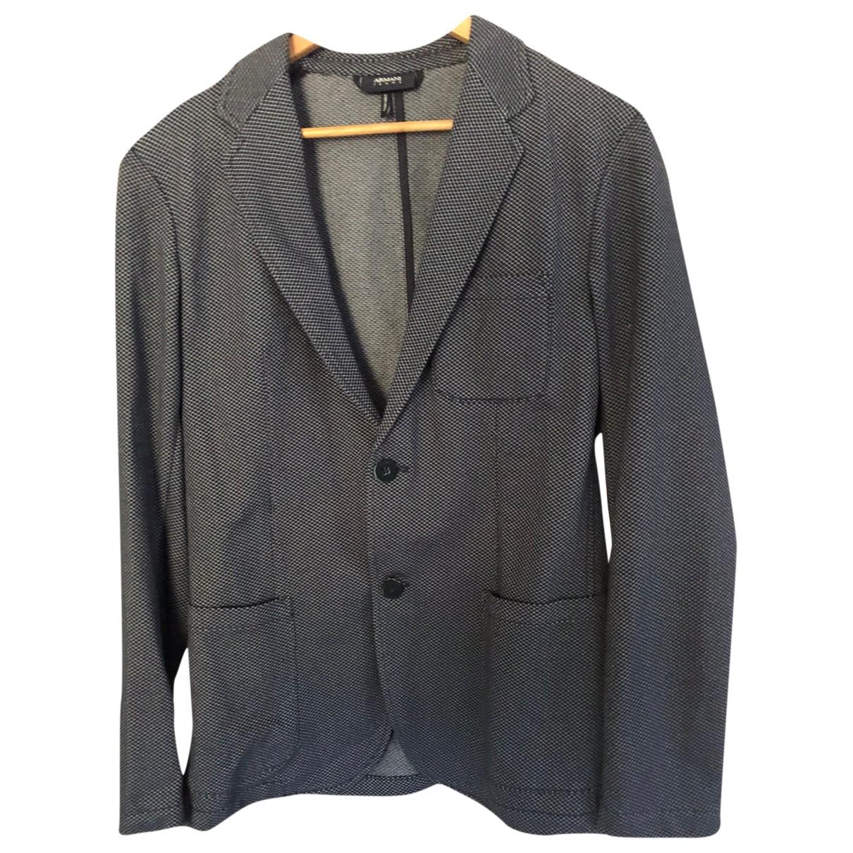 Armani Jean - Vestes.Blousons   pour homme en coton - bleu