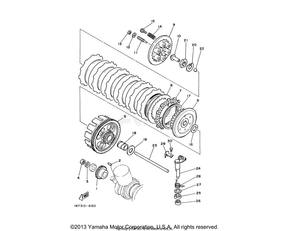 Yamaha OEM 360-16154-00-00 PLATE, THRUST 1