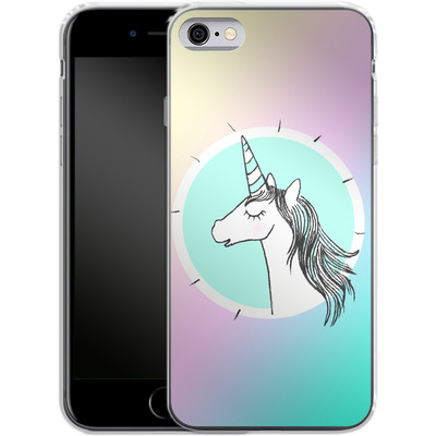 Apple iPhone 6s Silikon Handyhuelle - Happiness Unicorn von caseable Designs