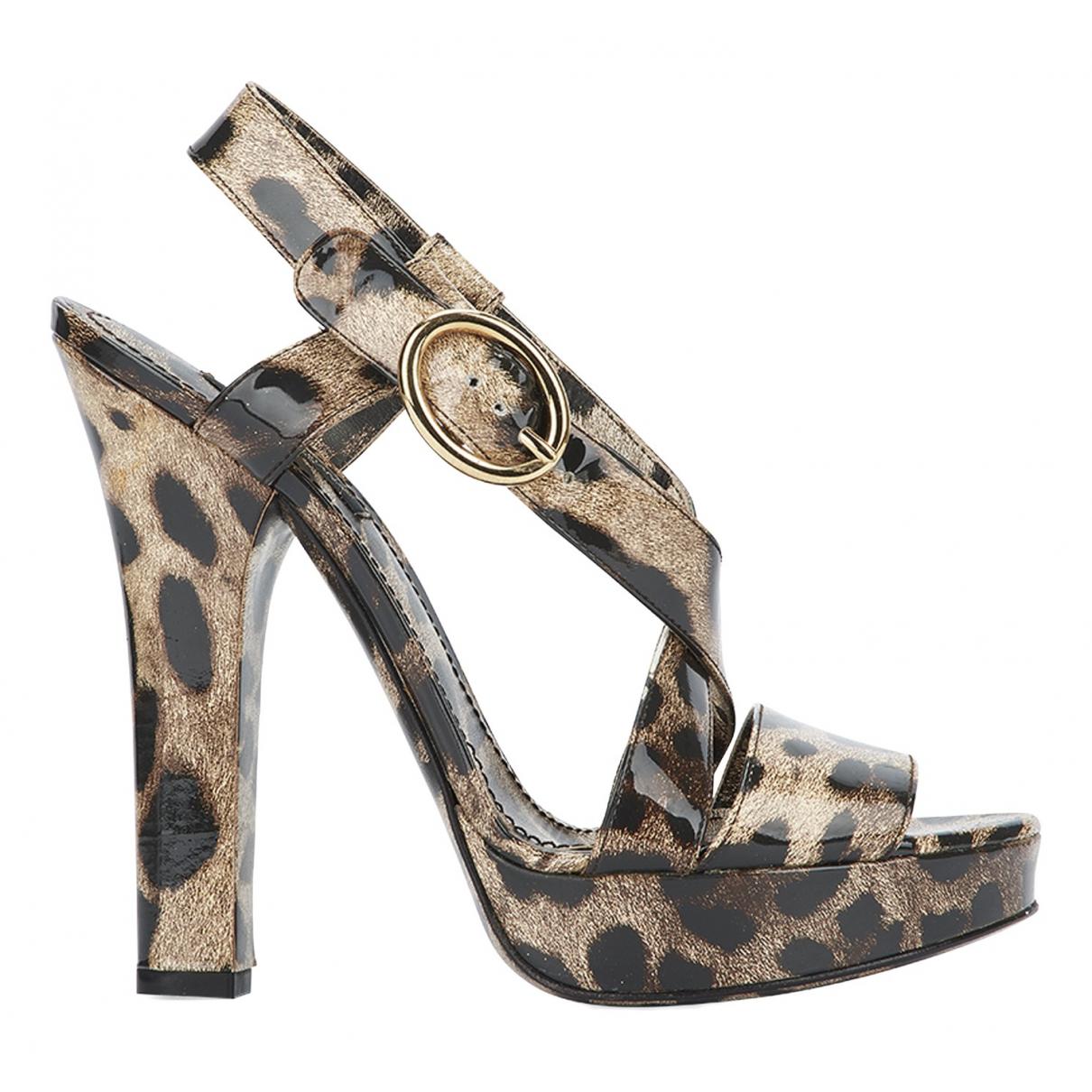 Dolce & Gabbana \N Sandalen in  Bunt Lackleder