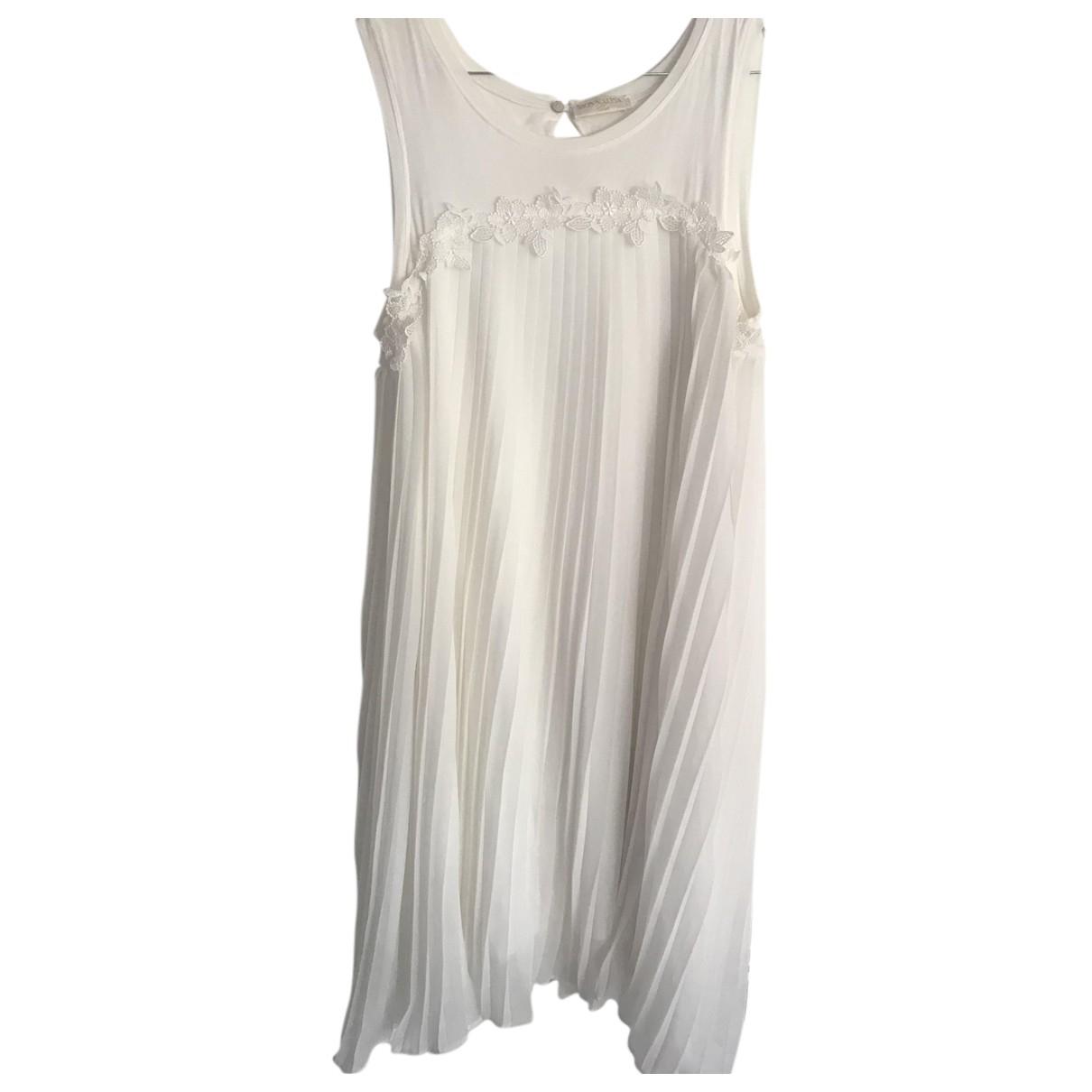 Monnalisa - Robe    pour enfant en coton - blanc