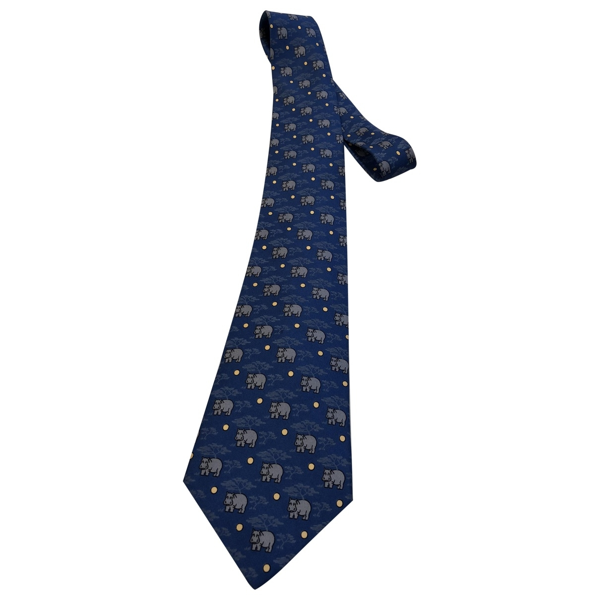 Hermès \N Blue Silk Ties for Men \N
