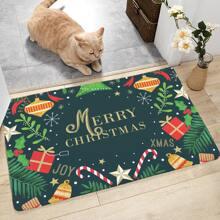 Christmas Print Floor Mat
