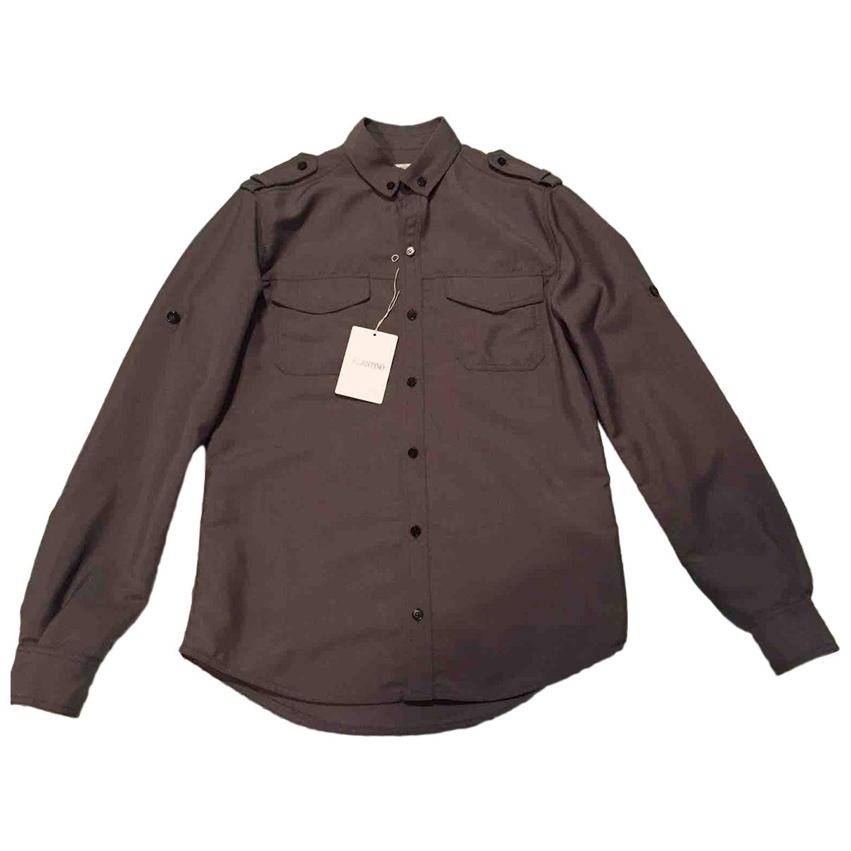Valentino Garavani - Chemises   pour homme en coton - kaki