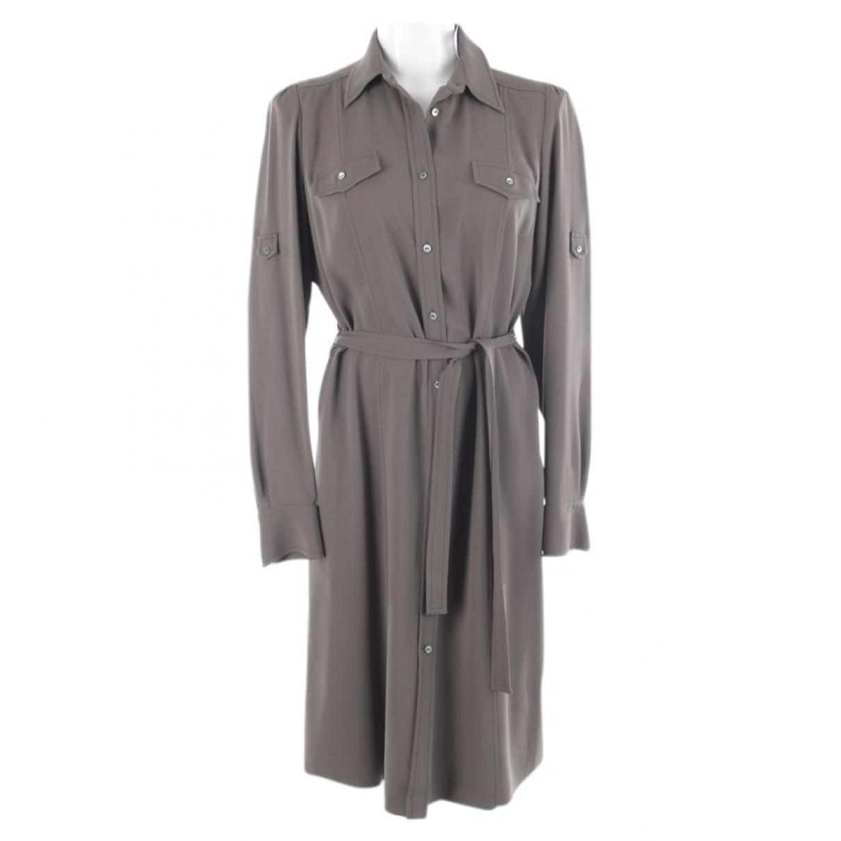 Loro Piana - Robe   pour femme en soie - kaki