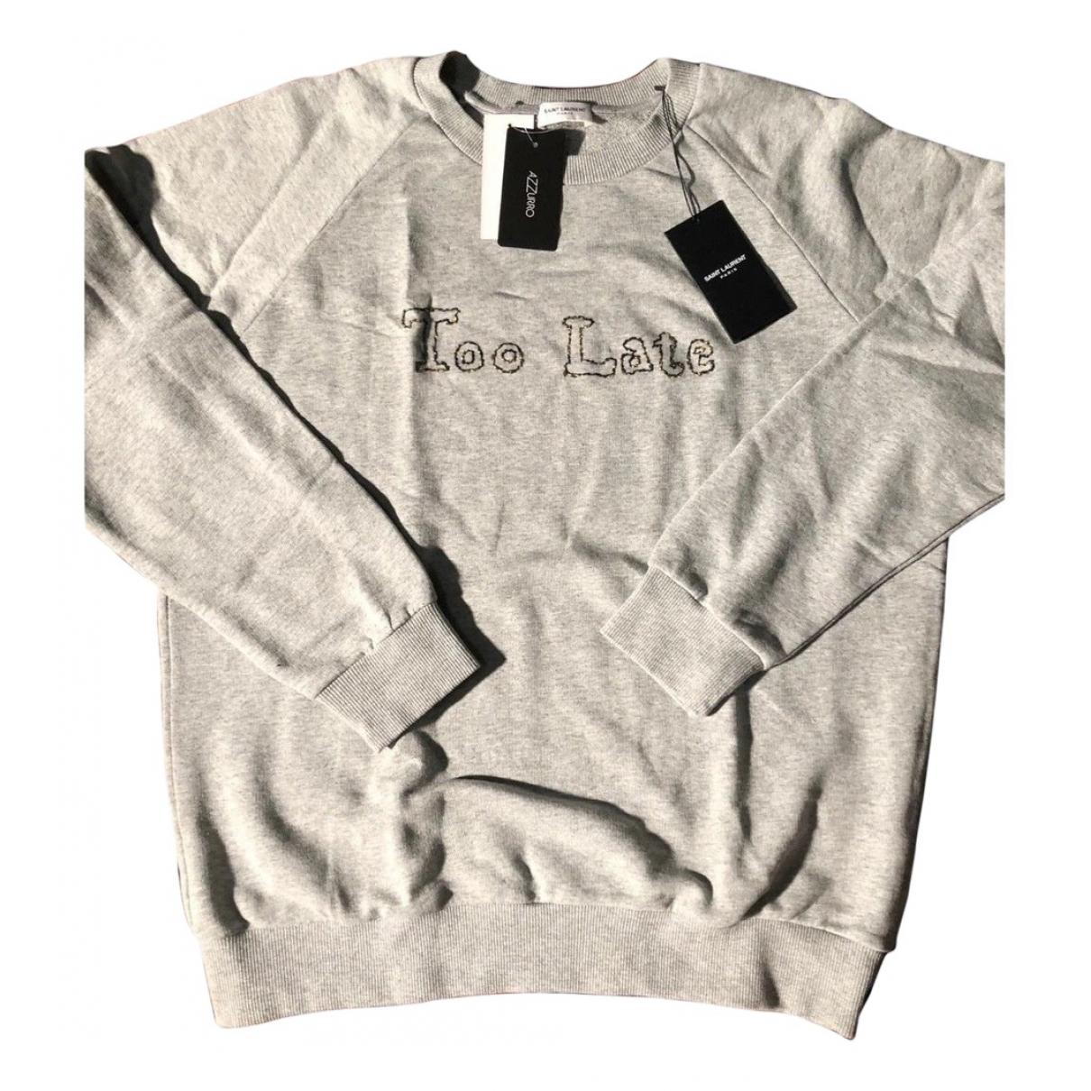 Saint Laurent - Pulls.Gilets.Sweats   pour homme en coton - gris