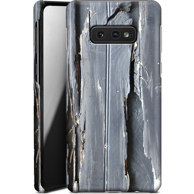 Samsung Galaxy S10e Smartphone Huelle - Wood Black Fence von Brent Williams
