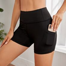 Wideband Waist Sports Shorts With Phone Pocket
