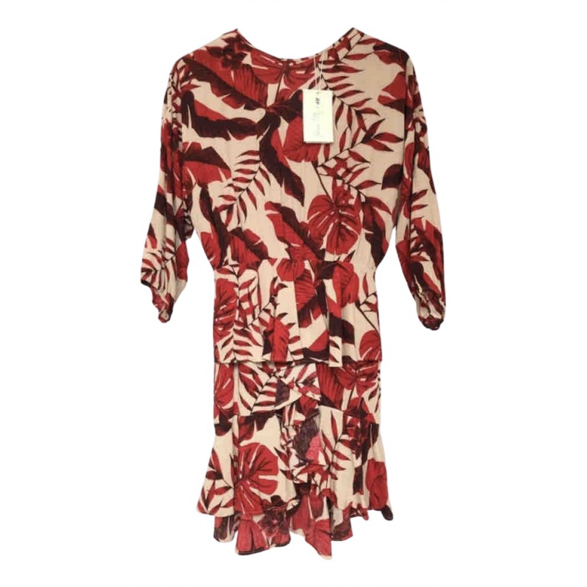 Johanna Ortiz \N Kleid in  Rot Viskose