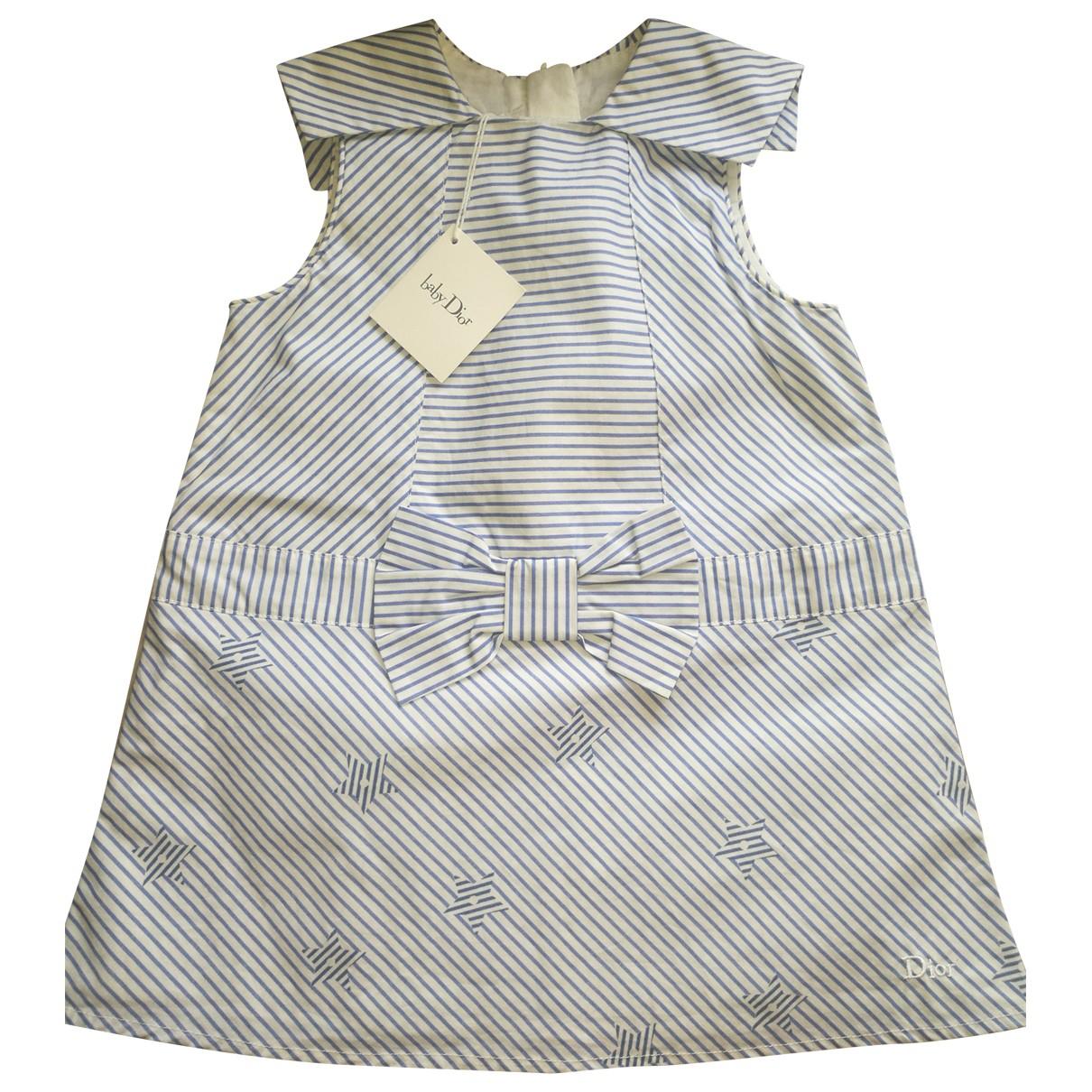 Baby Dior - Robe    pour enfant en coton - blanc