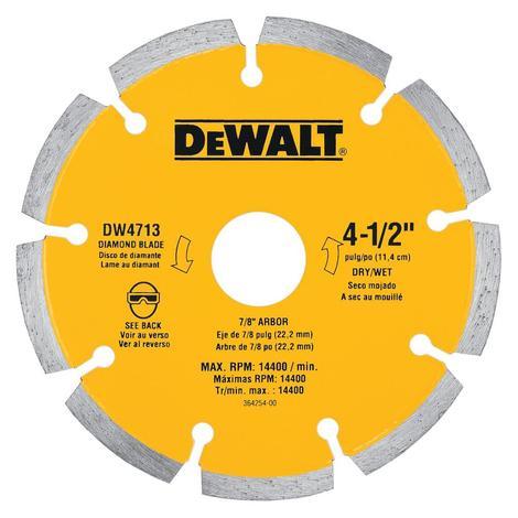 DeWalt 4-1/2 In. Segmented Dry Cut Diamond Bulk