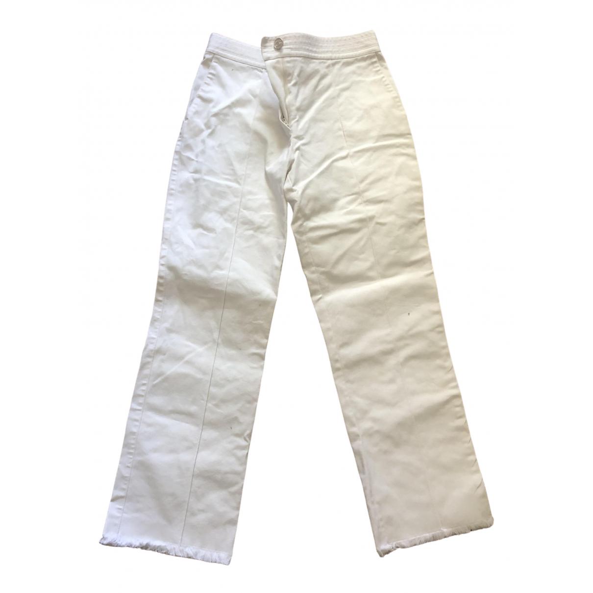 Pantalon en Algodon Blanco Chanel