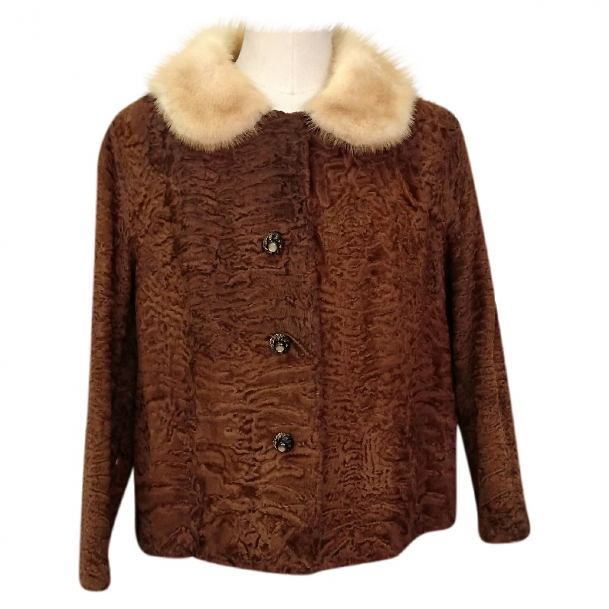 Non Signe / Unsigned \N Jacke in  Braun Persianer