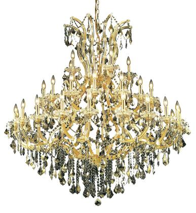 2800G52G-GT/RC 2800 Maria Theresa Collection Large Hanging Fixture D52in H54in Lt: 40+1 Gold Finish (Royal Cut Golden