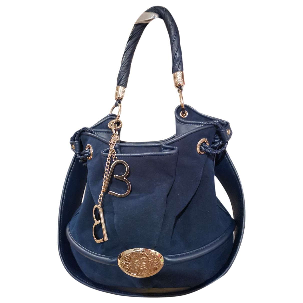 Lancel Brigitte Bardot Navy Suede handbag for Women N