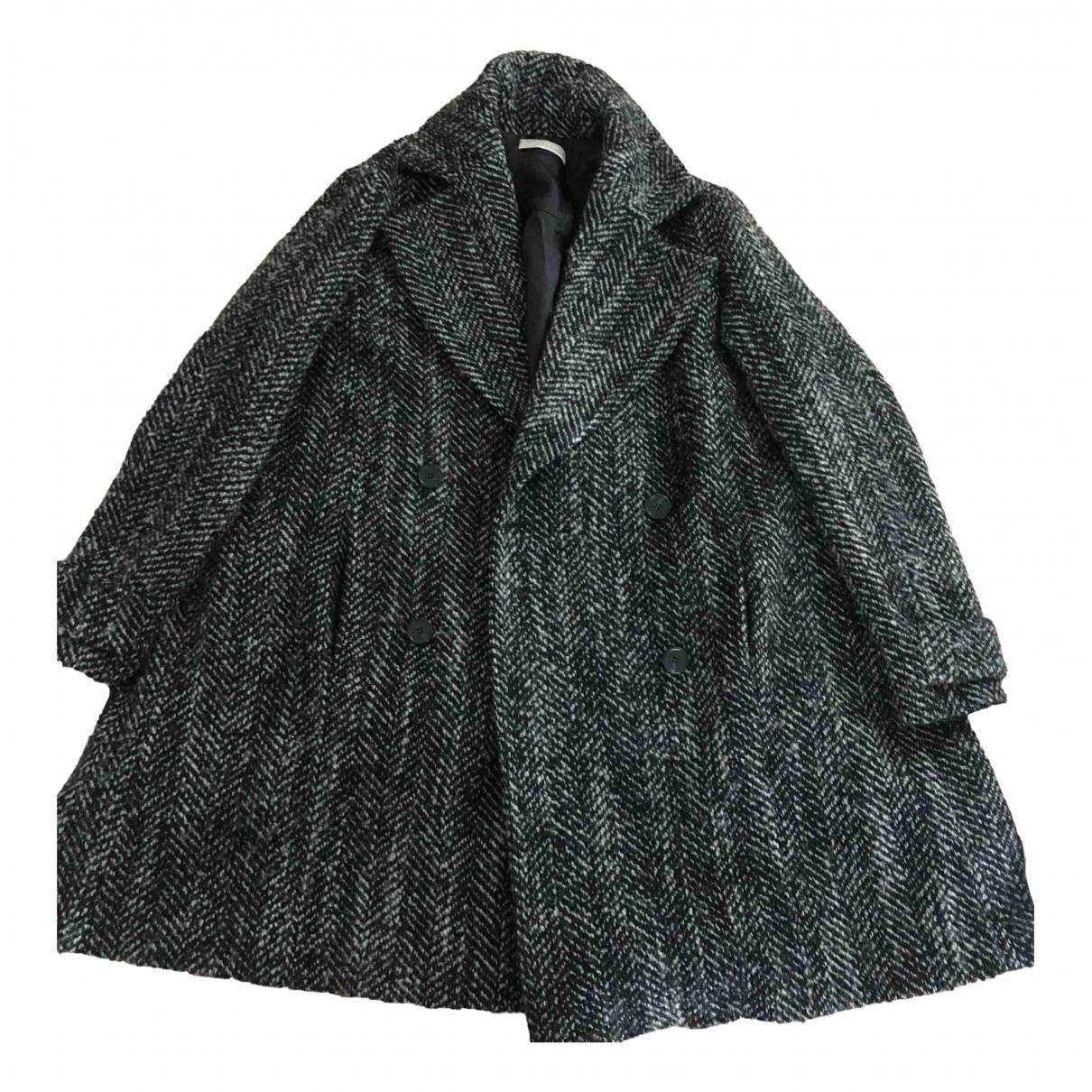 Stefanel - Manteau   pour femme en coton - gris