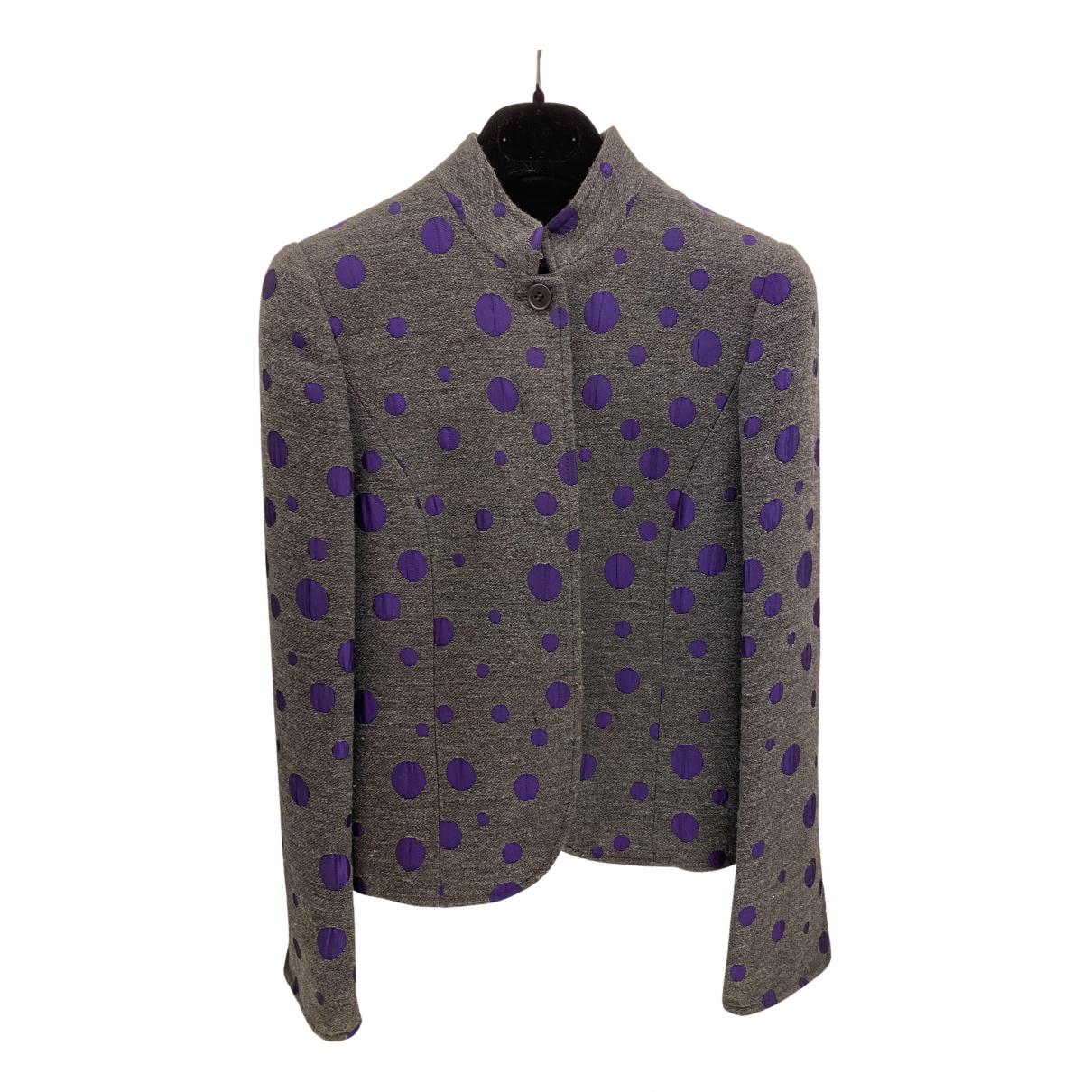 Emporio Armani \N Grey Cotton jacket for Women 38 IT