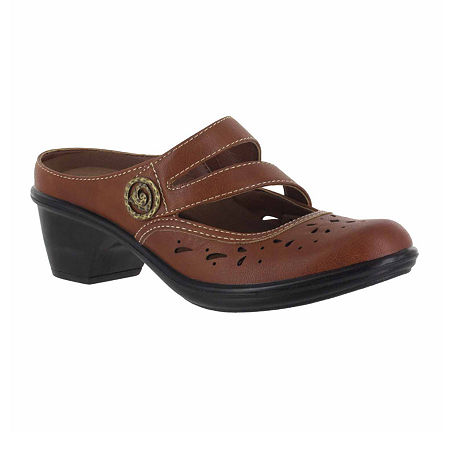 Easy Street Womens Columbus Slip-On Shoe, 7 Medium, Brown