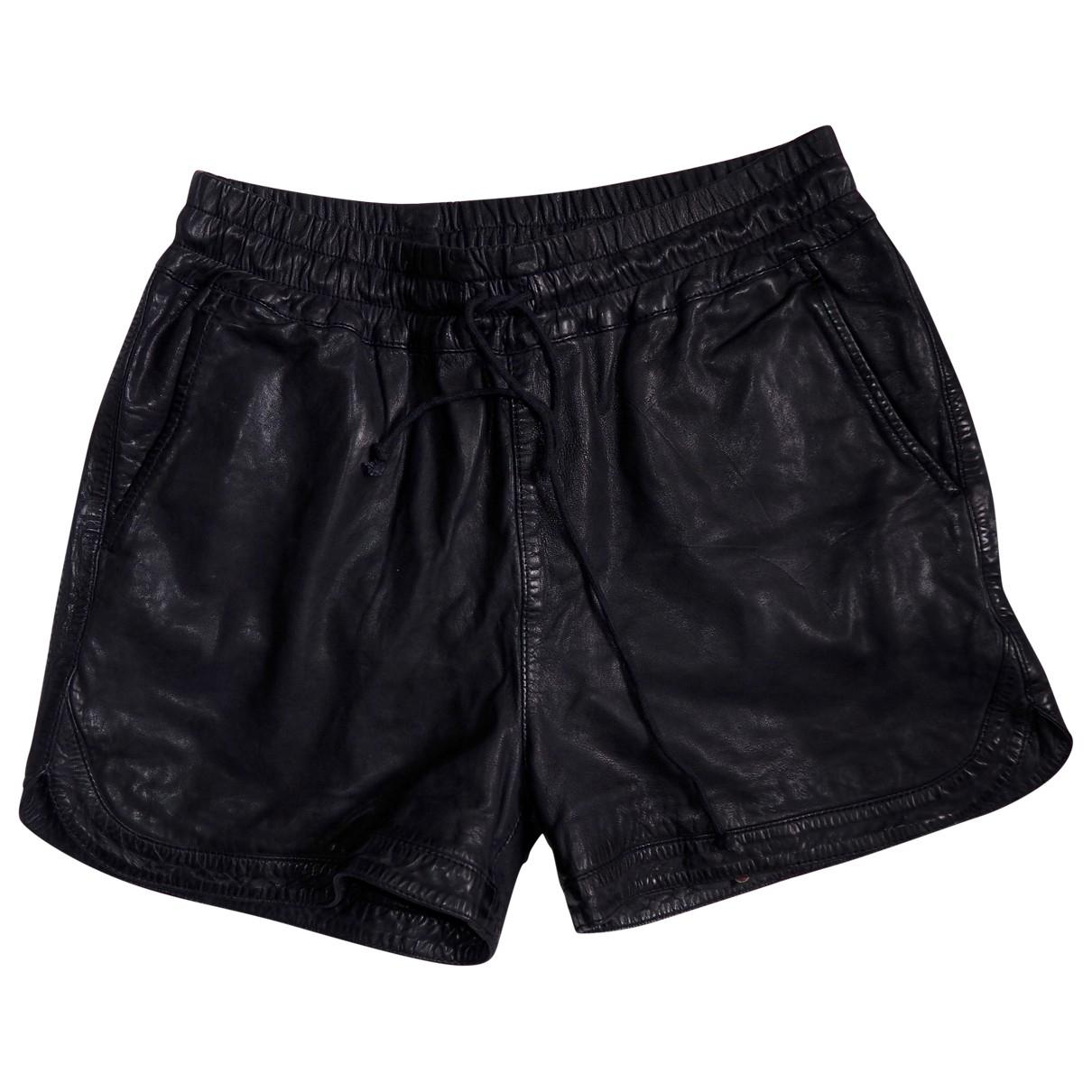 Swildens \N Shorts in  Blau Leder