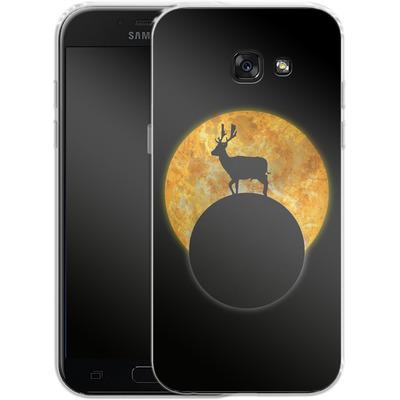 Samsung Galaxy A5 (2017) Silikon Handyhuelle - Deer on the Moon von Barruf