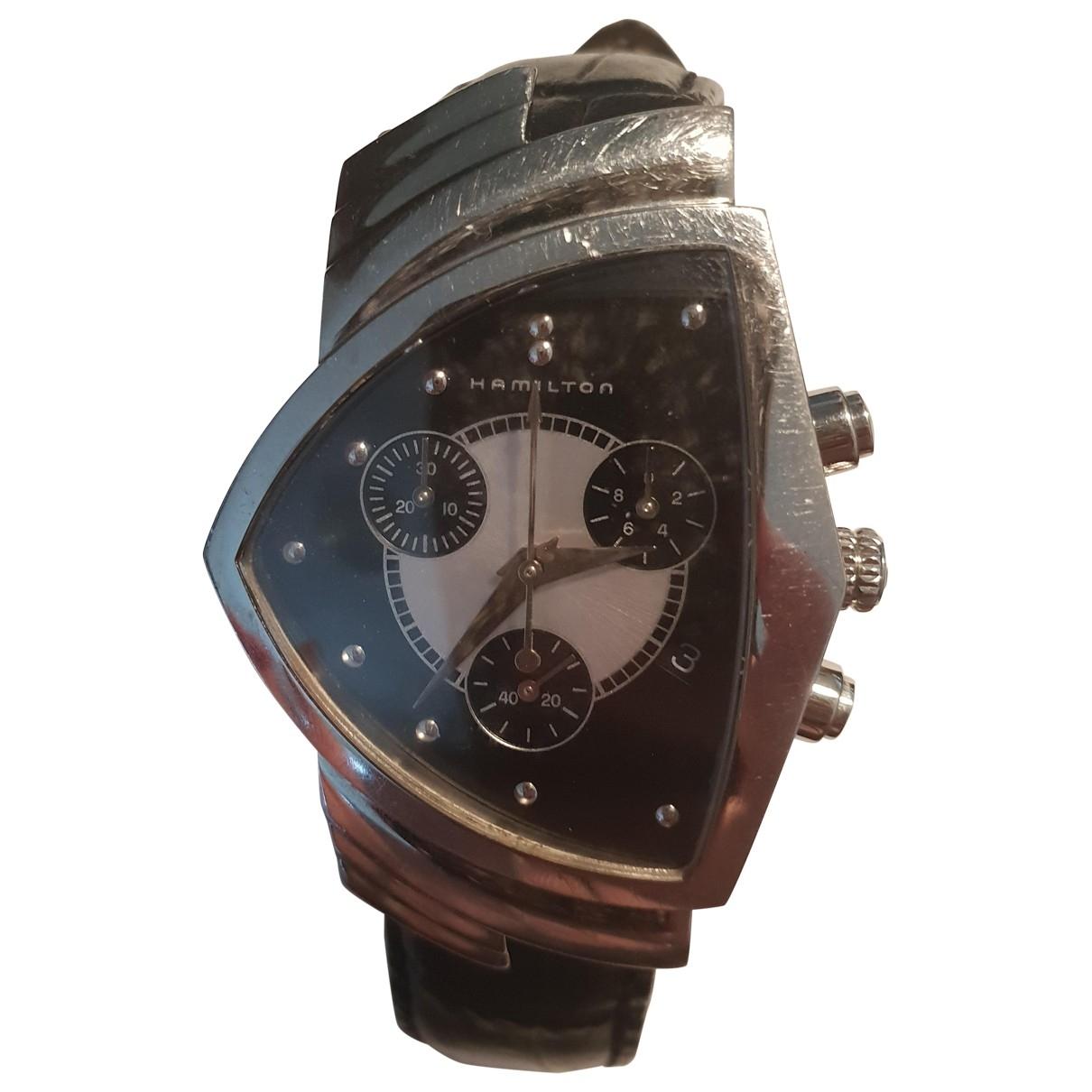 Hamilton \N Black Steel watch for Men \N