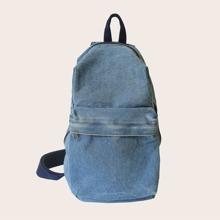Minimalist Denim Sling Bag