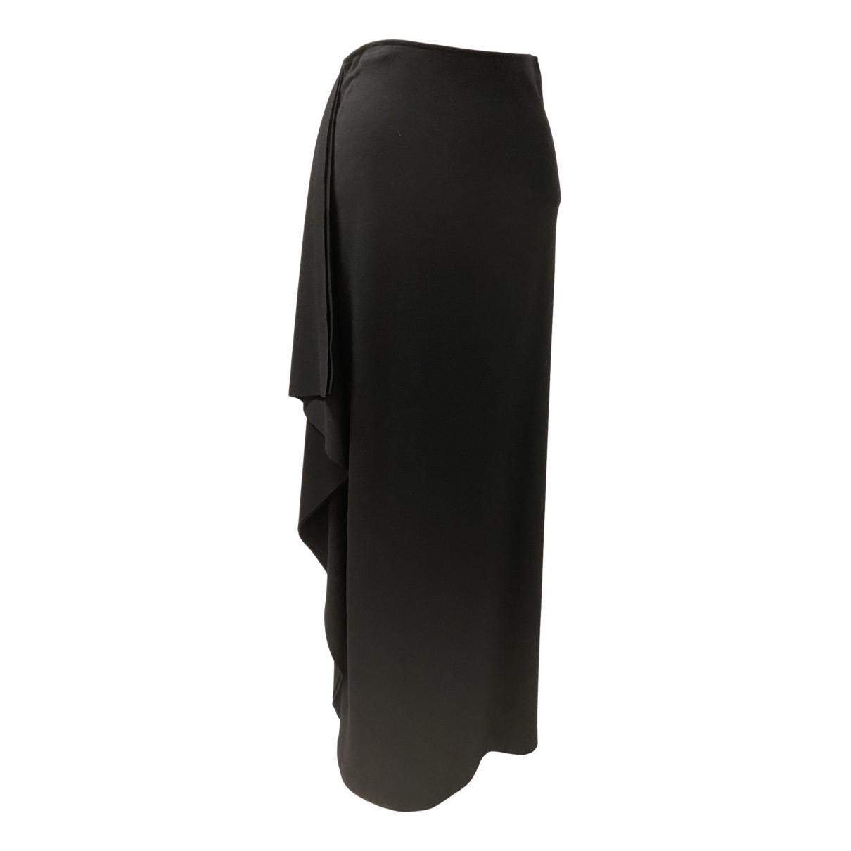 Joseph - Jupe   pour femme en laine - noir
