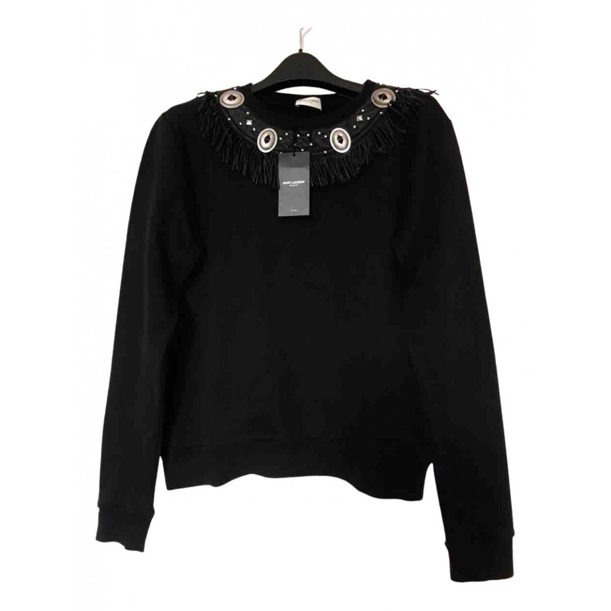 Saint Laurent N Black Cotton Knitwear & Sweatshirts for Men L International
