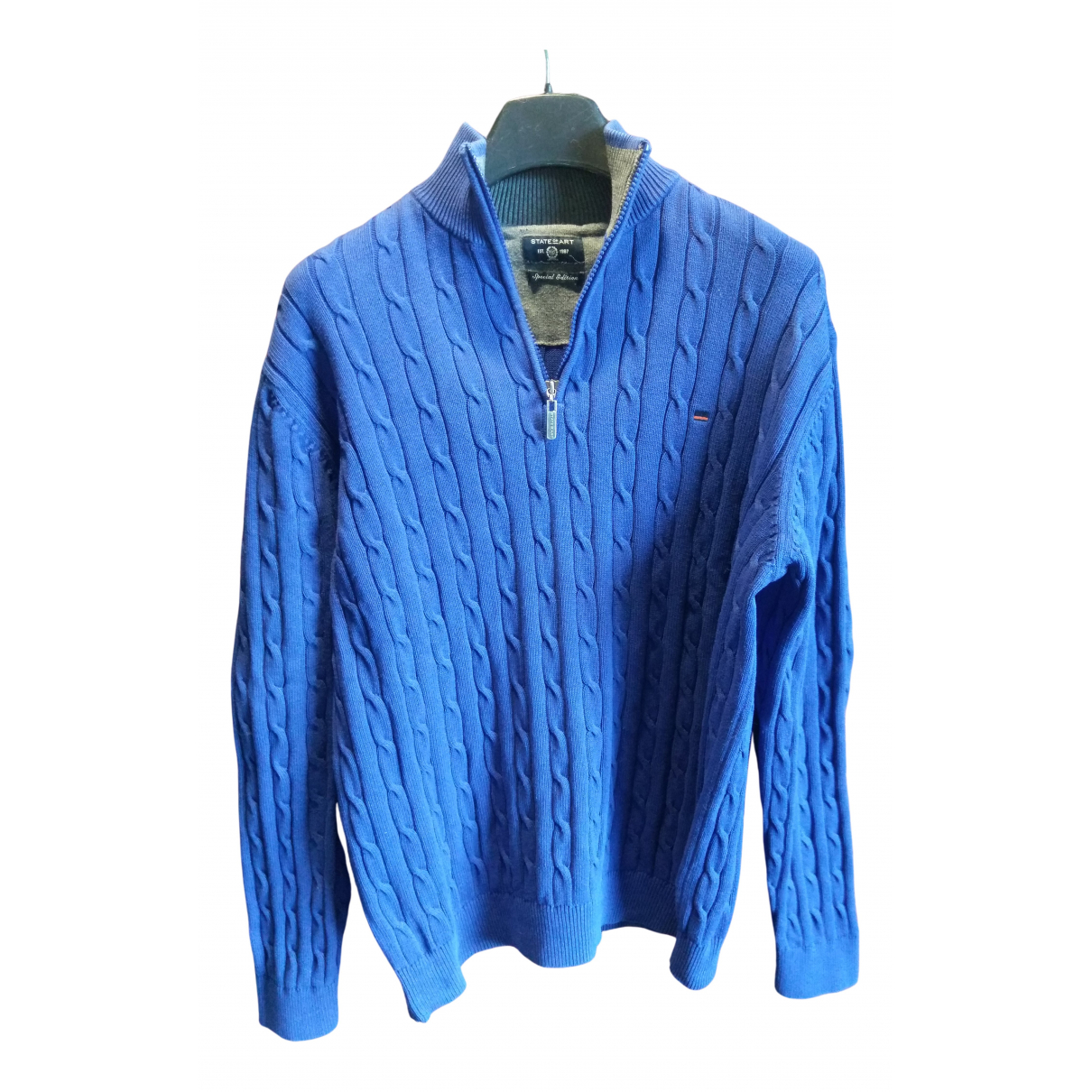 Non Signé / Unsigned \N Navy Cotton Knitwear & Sweatshirts for Men L International