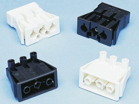 Wieland ST18 Series, Male 3 Pole Connector, Panel Mount, with Strain Relief, Rated At 16A, 250 V, White (5)