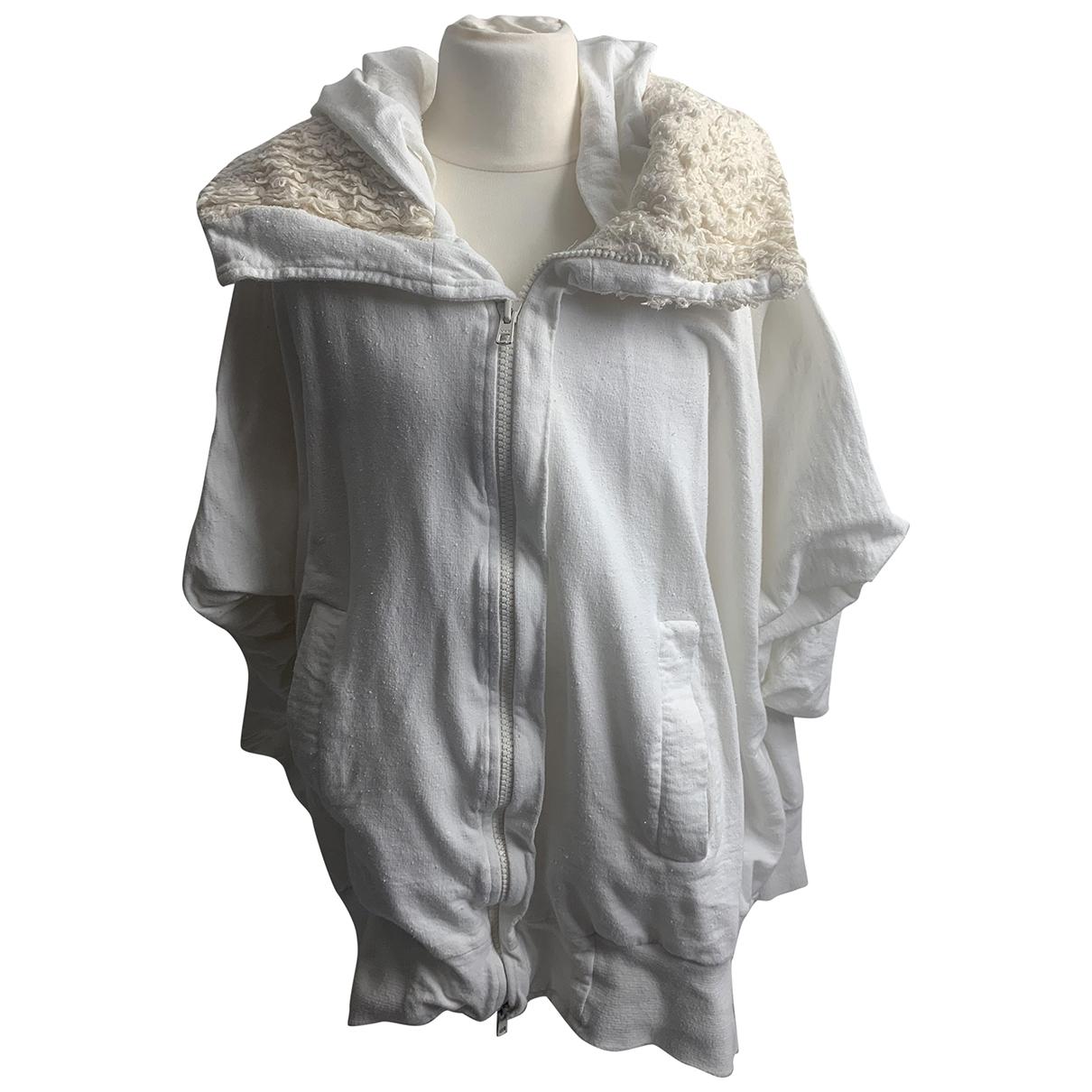 Bernhard Willhelm \N Pullover.Westen.Sweatshirts  in  Weiss Baumwolle