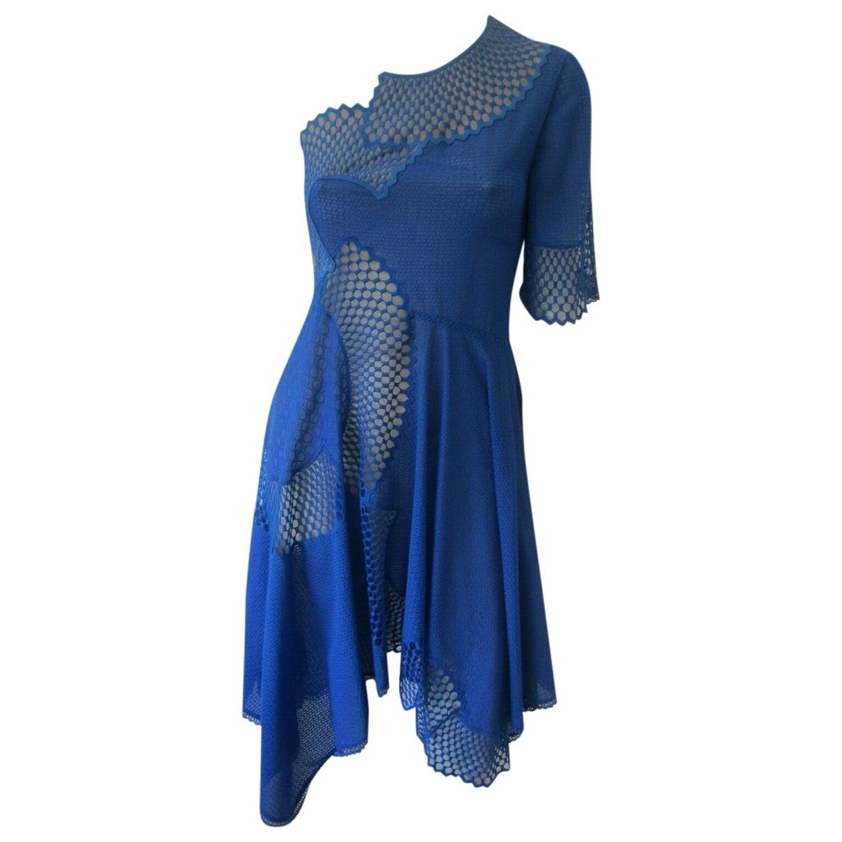 Stella Mccartney - Robe   pour femme en dentelle - bleu
