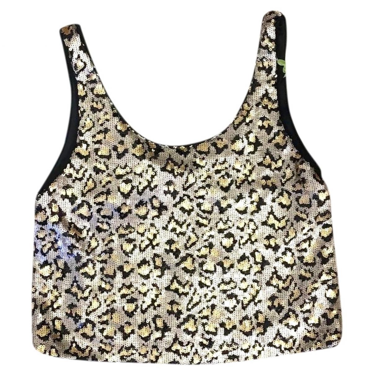 Zara - Top   pour femme en a paillettes - dore