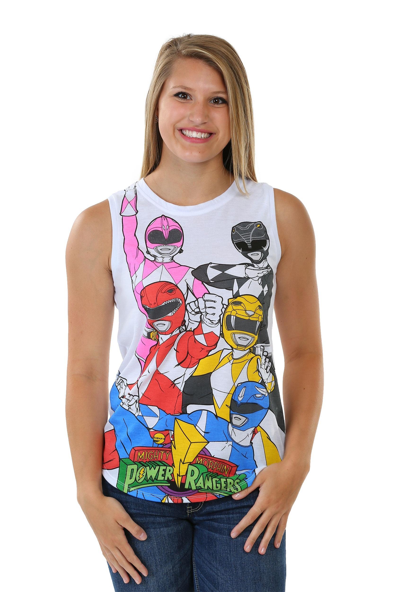 Power Rangers Panel Print Women's Muscle Tank