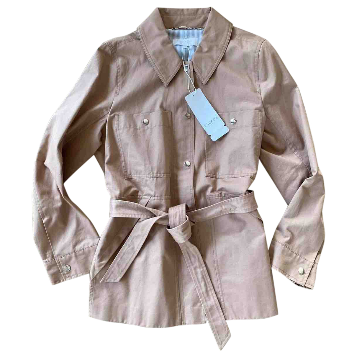 Escada N Beige Cotton coat for Women 42 FR