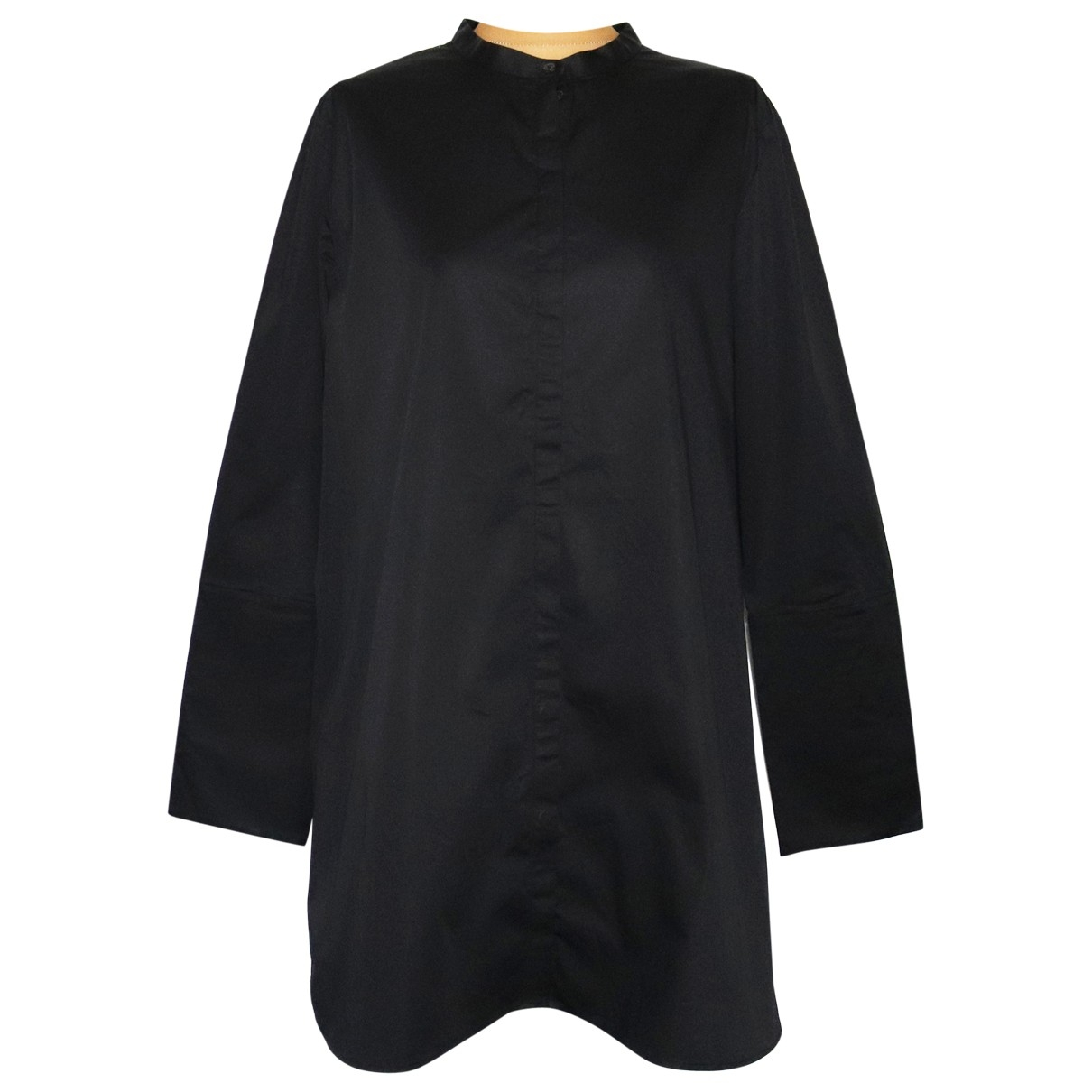 Cos \N Black Cotton - elasthane dress for Women 44 FR