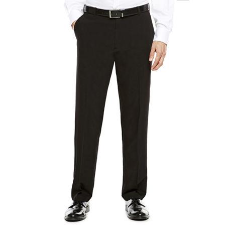 Van Heusen Stretch Flex Straight Fit No-Iron Dress Pants, 34 29, Black