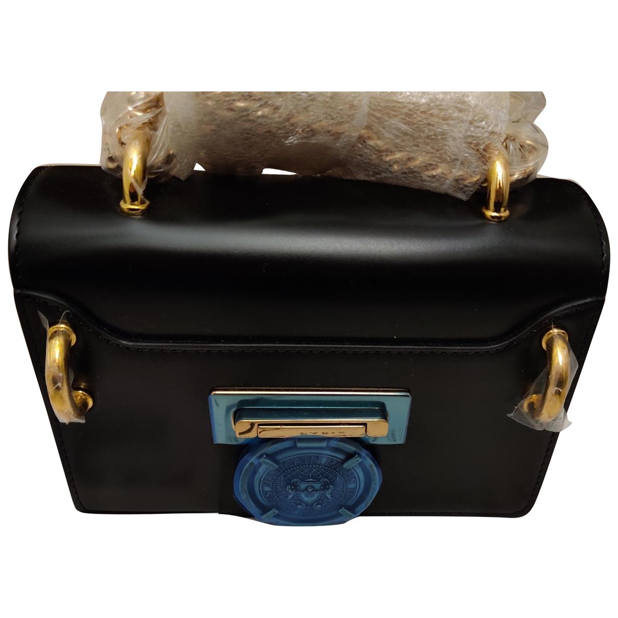 Balmain BBag 18 Black Leather handbag for Women \N