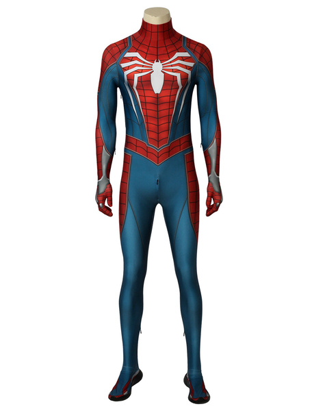 Milanoo Marvel Comics Marvel\\'s Spider Man PS4 Game Version Halloween Cosplay Costume Zentai Suit